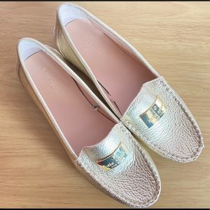 Kate Spade Corrie Loafer Gold Size 7.5